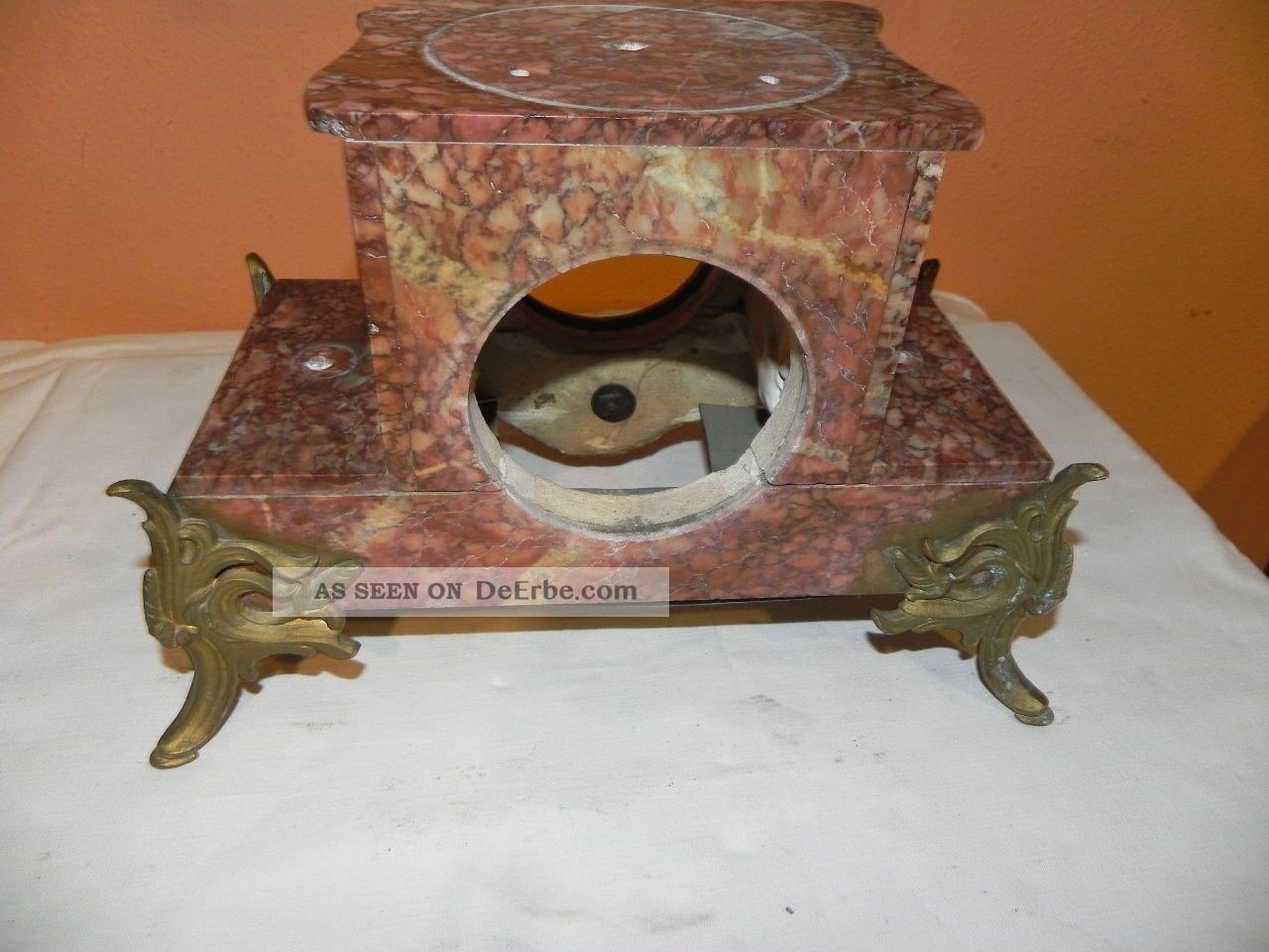 Uhrengehäuse Marmor Für Kaminuhr Um 1900 Jugendstil
