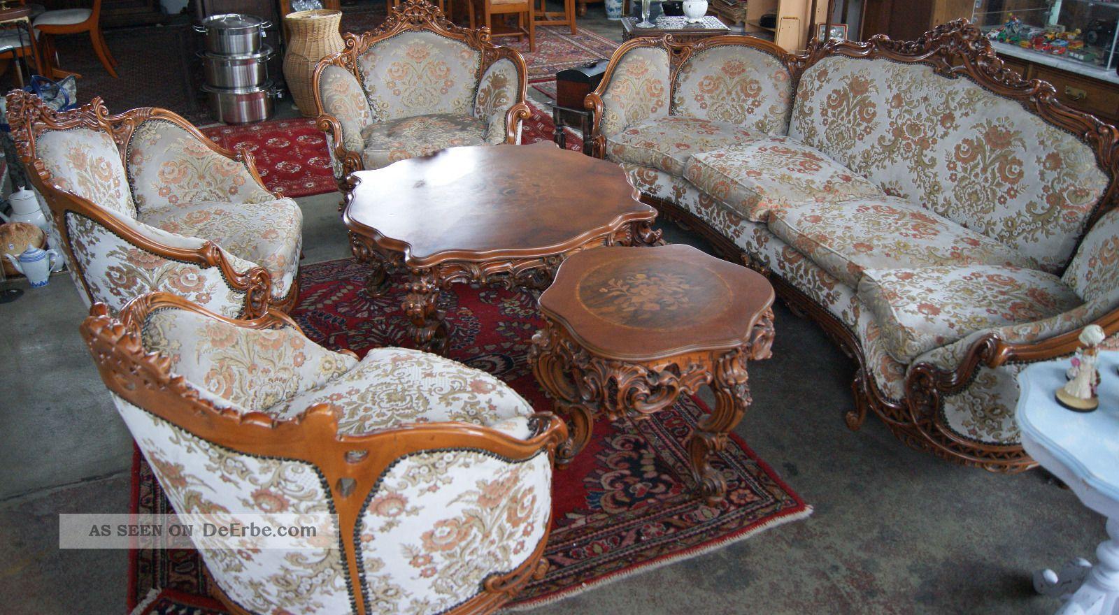 barock couch sofa sessel tische. Black Bedroom Furniture Sets. Home Design Ideas