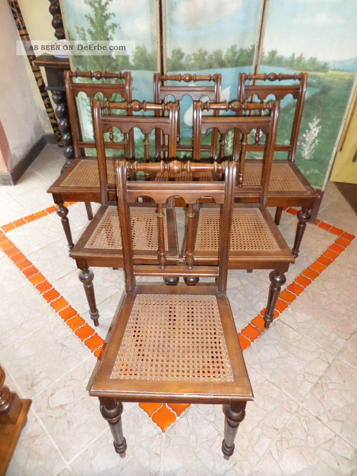 Stühle Geflochten sechs gründerzeit stühle um 1880 geflochtene sitzfläche buchenholz