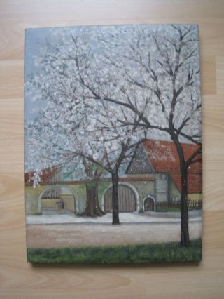 Altes Landschaftsbild - Ölmalerei Bild