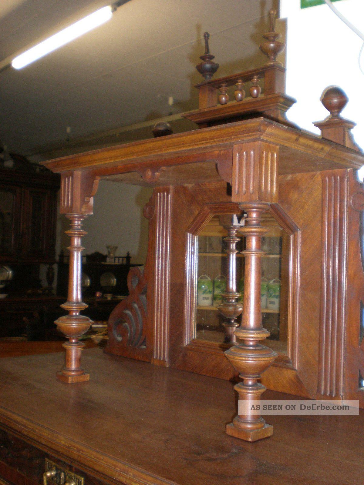 altes jugendstil vertiko antik m bel mit aufsatz. Black Bedroom Furniture Sets. Home Design Ideas