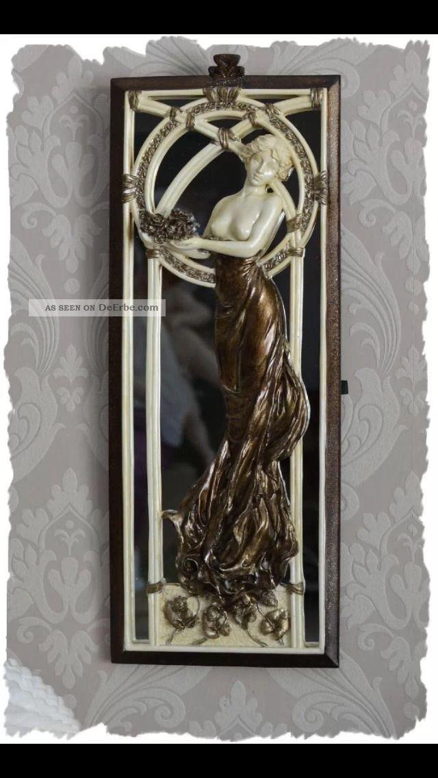 spiegel im belle epoque jugendstil figur relief vintage im antik look. Black Bedroom Furniture Sets. Home Design Ideas