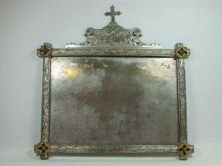 Prächtiger Sakraler Rahmen,  Metall,  Applikationen,  Um 1900 Bild
