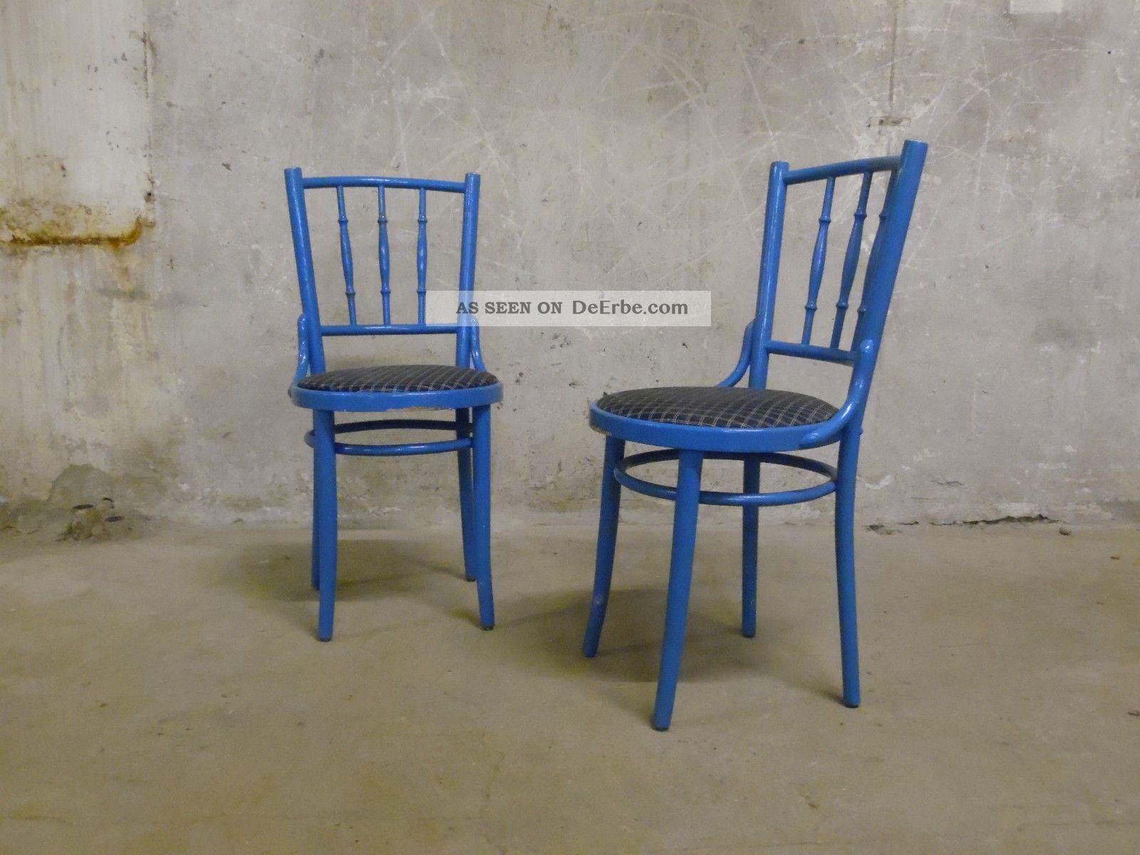 2x salzburger stuhl alt shabby himmelblau bugholz vintage thonet ra era re. Black Bedroom Furniture Sets. Home Design Ideas