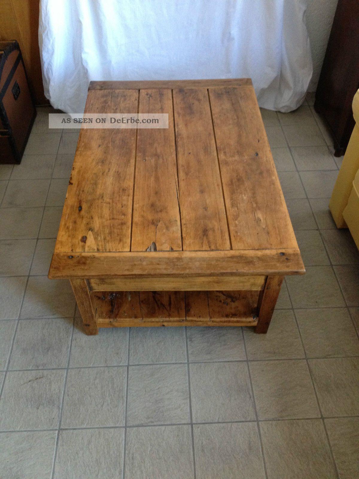 Antiker franz sischer wohnzimmertisch aus weichholz ca 1920 - Antiker wohnzimmertisch ...