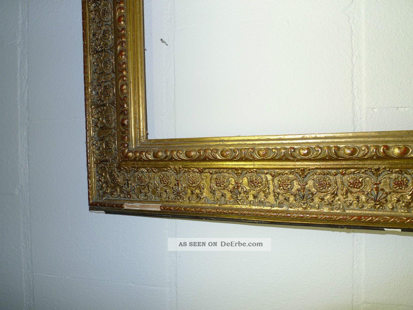handarbeit gro er gebrauchter bilderrahmen gold antik sch n. Black Bedroom Furniture Sets. Home Design Ideas