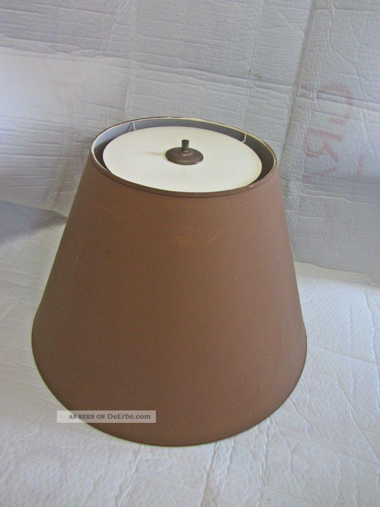 Sehr Großer Alter Lampenschirm O Fransen Stehlampe Ti H 45 Durchm 60 Cm