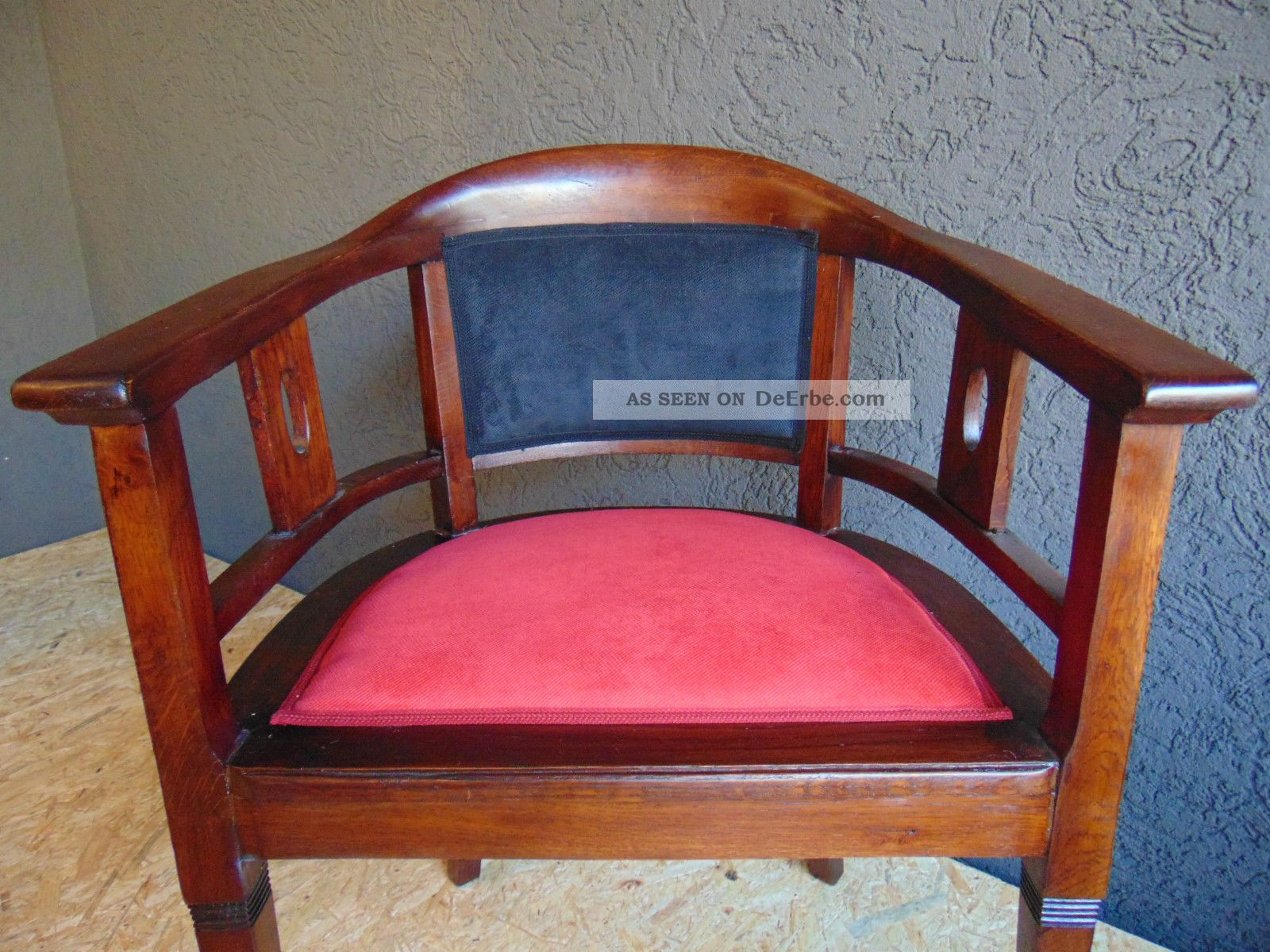 Top Jugendstil Armlehnstuhl Um 1910 Eiche Stuhl