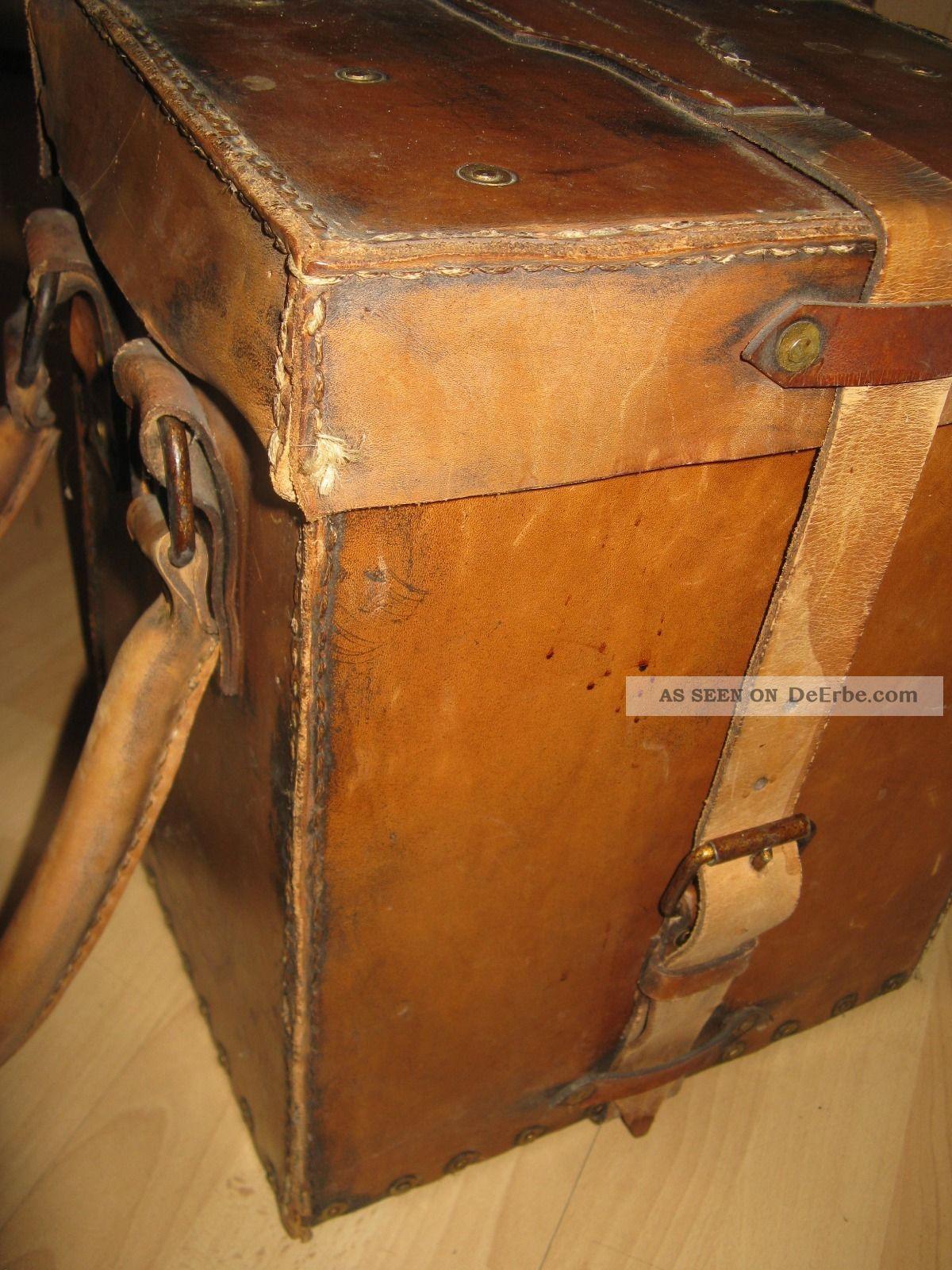Sehr alte exquisit elegante koffer bar tisch for Tisch koffer design