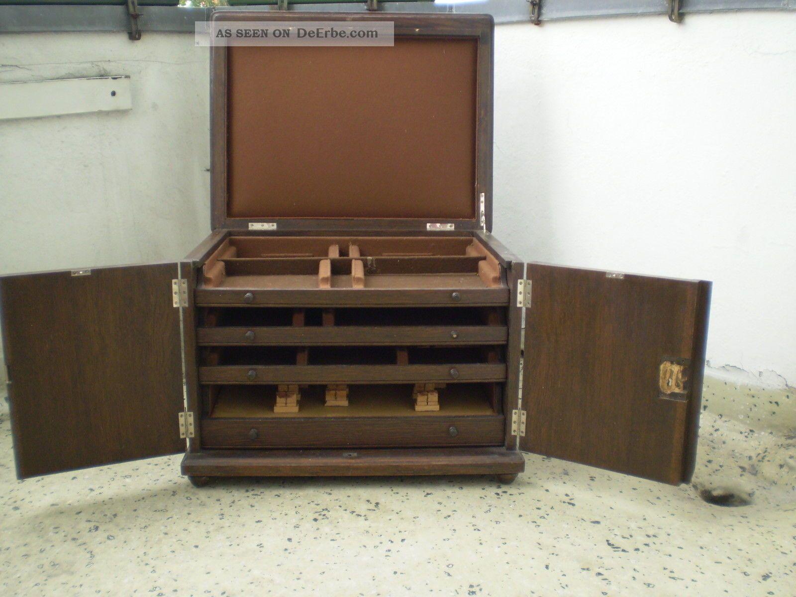 Art Deco Bed Gro 223 Er Besteckkasten Besteckschrank Art Deco Eiche Rest