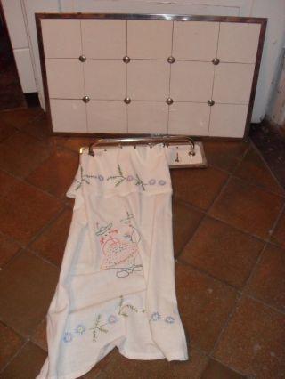 Alter Tuchhalter Hakenleiste Vintage Kachel Handtuchhalter Landhaus Küche Bild