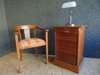 ,  Edler Bauhaus Rolladenschrank Um 1920 Schubladenschrank Büroschrank, Bild