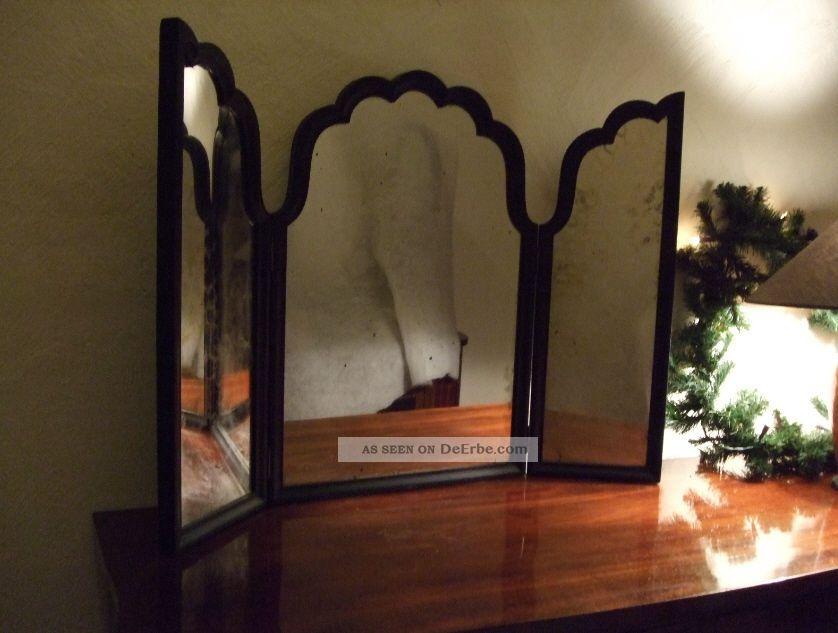 antiker 3 teiliger spiegel schminkspiegel kosmetikspiegel. Black Bedroom Furniture Sets. Home Design Ideas