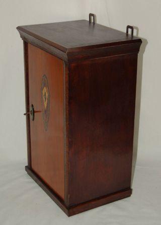 Jugendstil Apothekerschrank Um 1910 - Wandschrank Hängeschrank - Abschließbar Bild