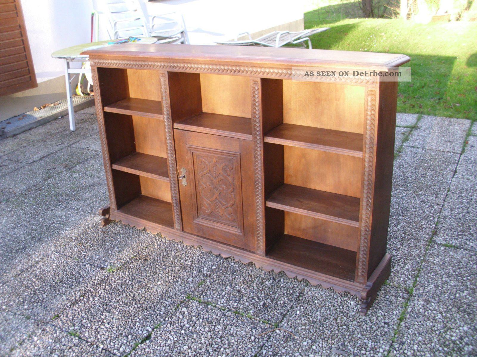massiver antiker b cherschrank regal schrank biedermeier. Black Bedroom Furniture Sets. Home Design Ideas