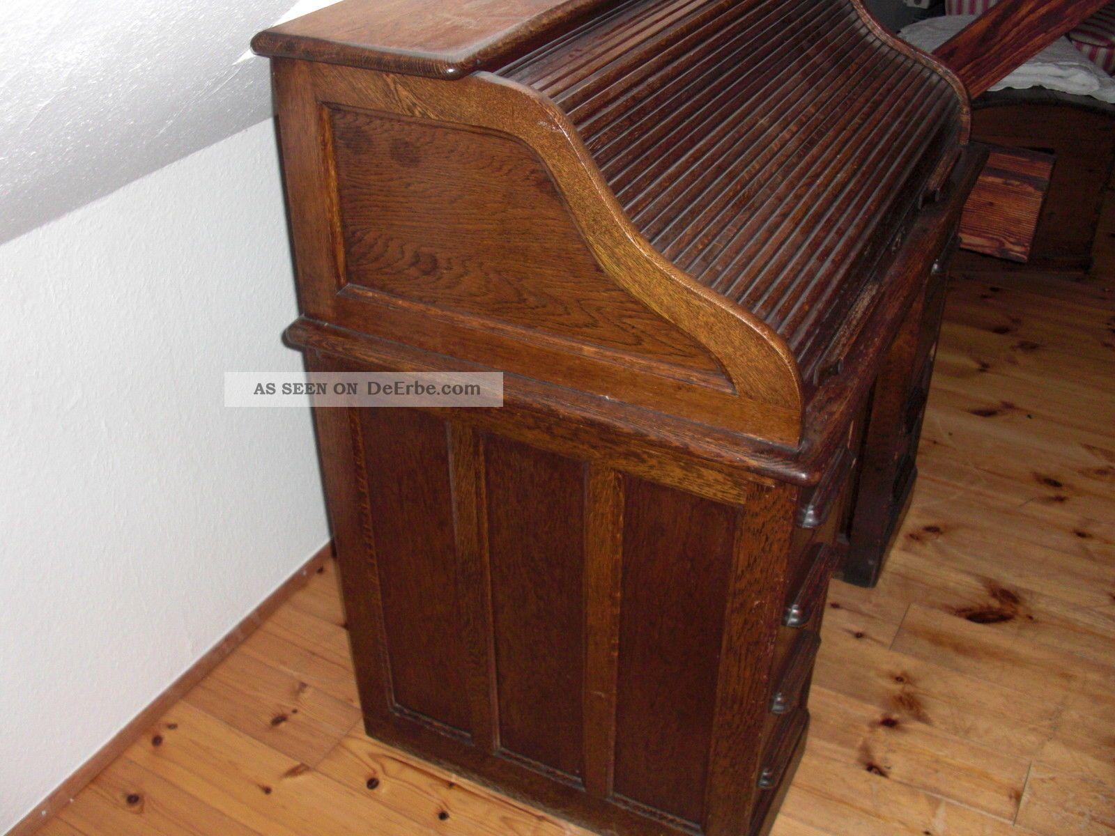 schreibtisch sekret r rollsekret r antik um 1900. Black Bedroom Furniture Sets. Home Design Ideas