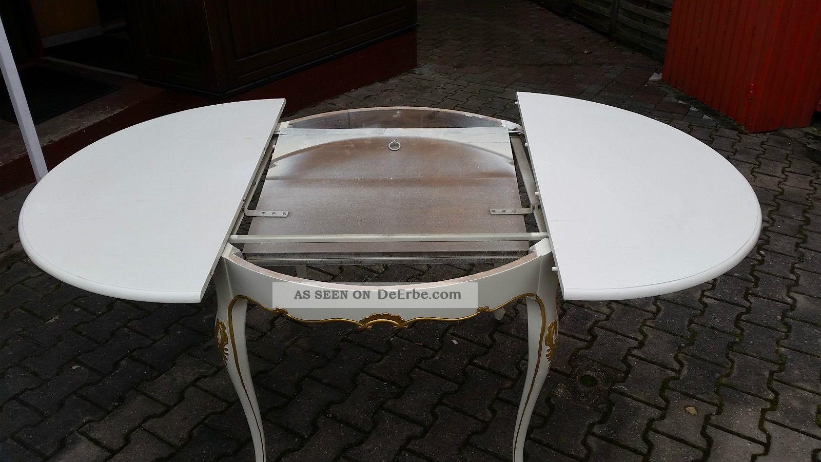 Esstisch Barock Weiß ~ Esstisch Warrings Inkl 6 Stühle Chippendale Weiss Barock Vintage