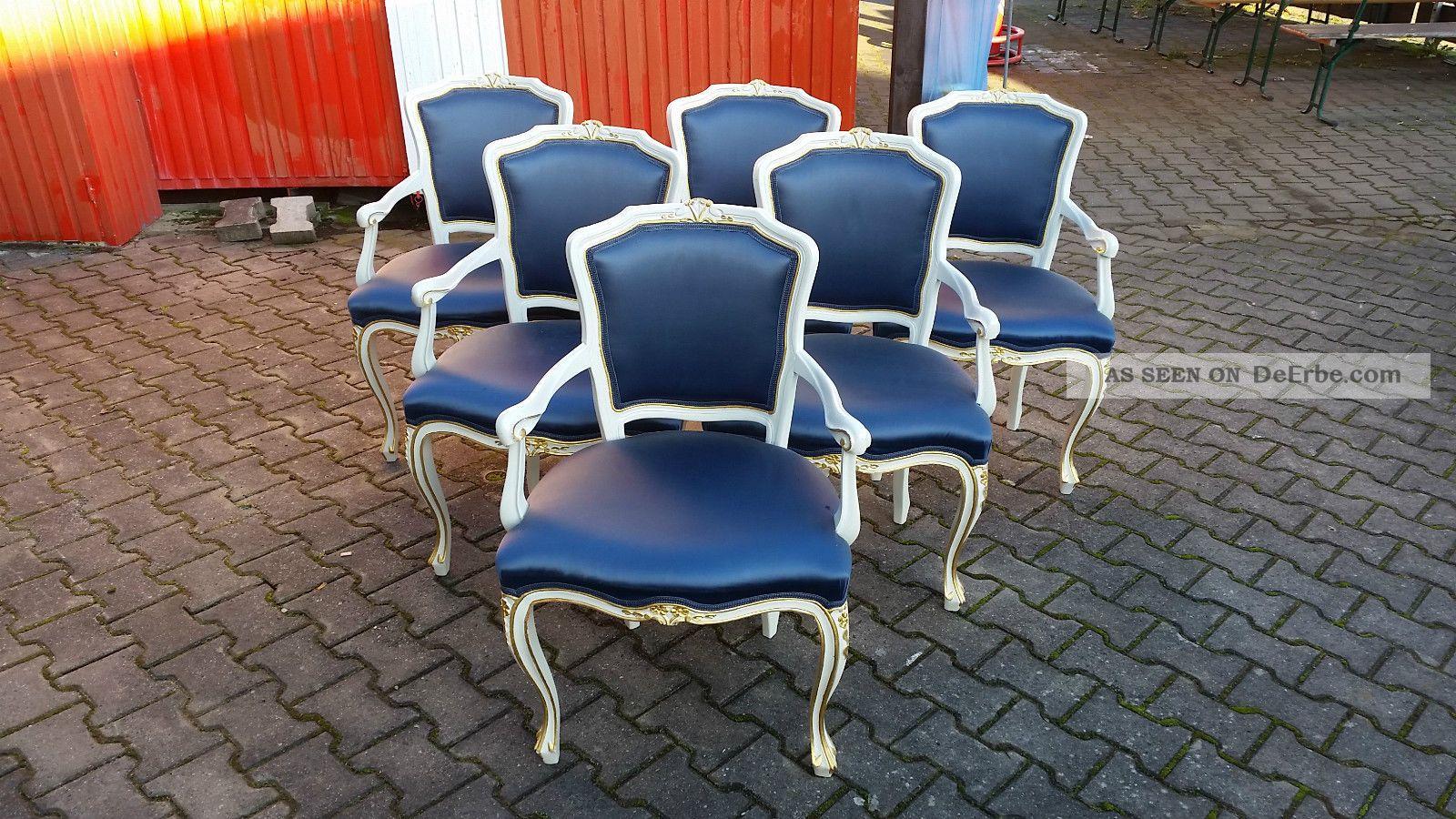 Chippendale Warrings Weiss Stühle Vintage Barock 6 Esstisch Inkl ARj435L