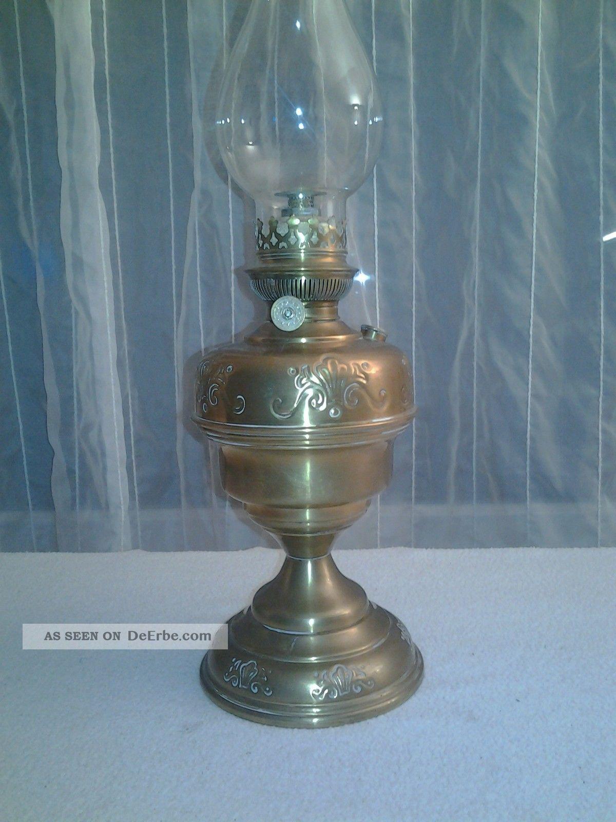 antik petroleumlampe llampe messing tischlampe. Black Bedroom Furniture Sets. Home Design Ideas