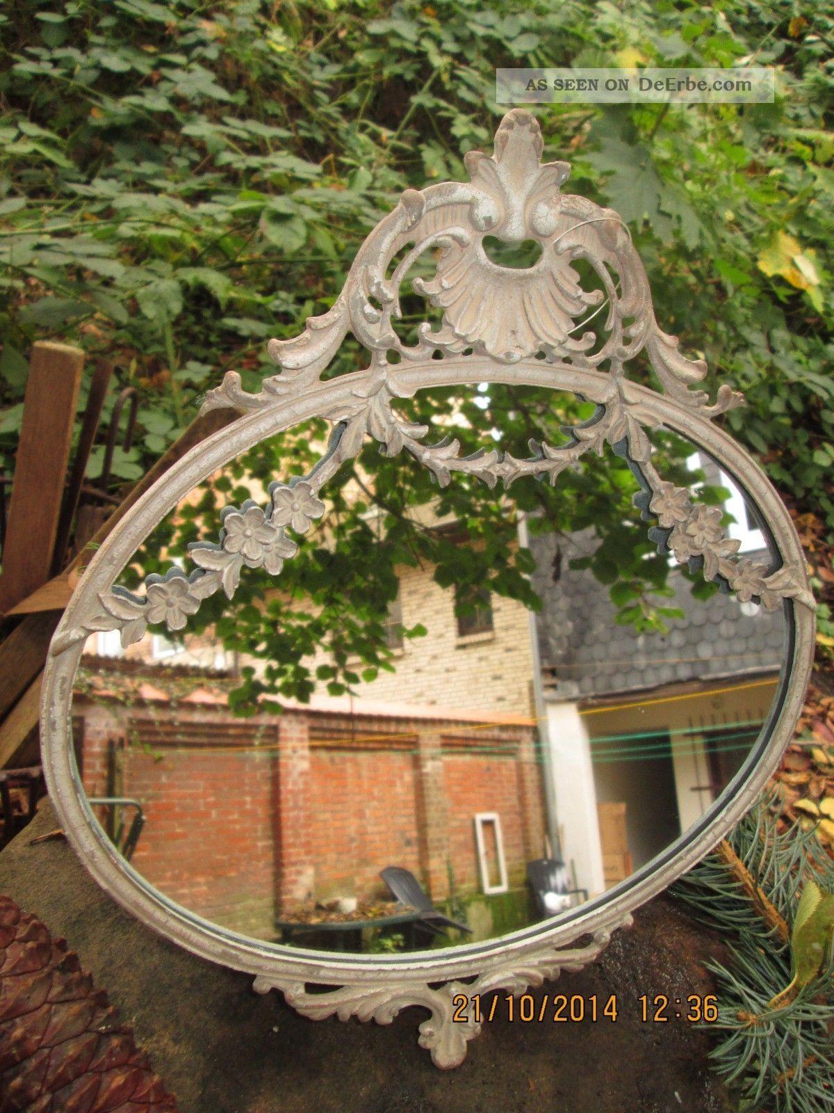 chic antique jugendstil spiegel oval antik beige vintage. Black Bedroom Furniture Sets. Home Design Ideas