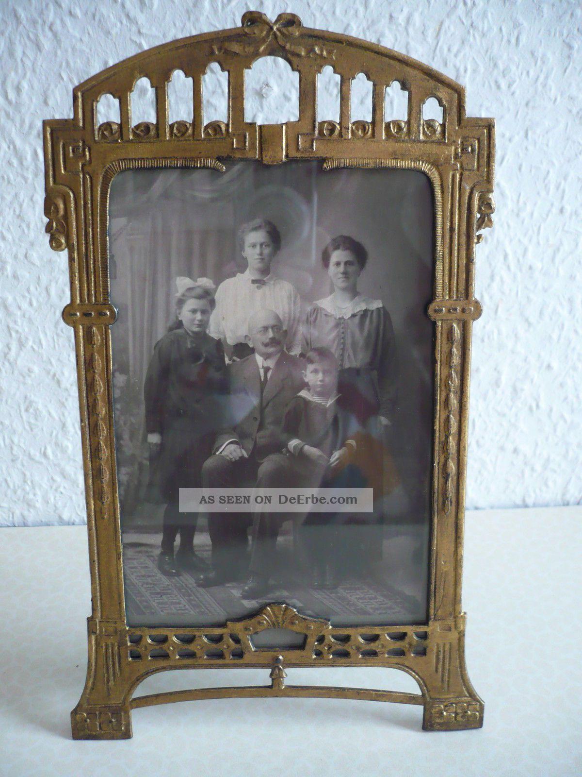 jugendstil bilderrahmen metall ca 1900 foto aus wien. Black Bedroom Furniture Sets. Home Design Ideas