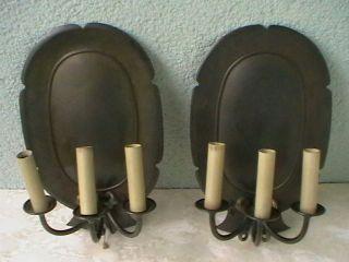 2 Große Alte Schwere Wandlampen,  Wandleuchten Blaker Messing Bild