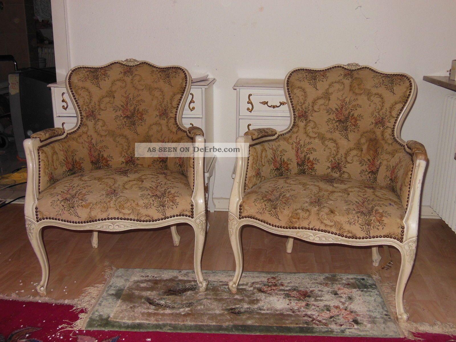 sessel mit armlehne 2x gobelin stilm bel chippendale. Black Bedroom Furniture Sets. Home Design Ideas