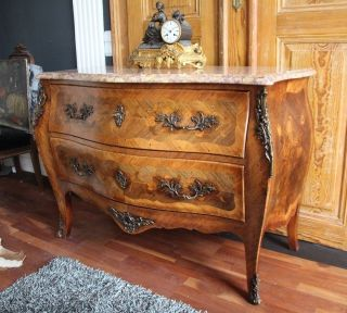 Antik Barock Kommode Ca.  1760 Marmor Bronze Louis Seize Rokoko Commode Marketerie Bild