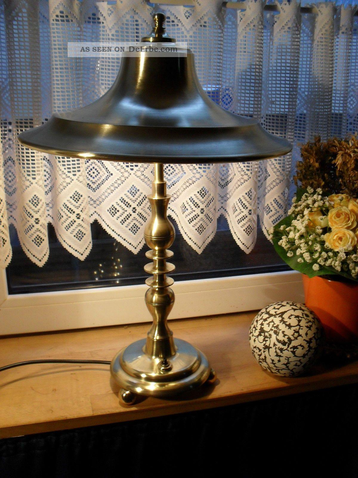 eindrucksvolle antike art deco jugendstil tischlampe messing goldbronze um 1910. Black Bedroom Furniture Sets. Home Design Ideas