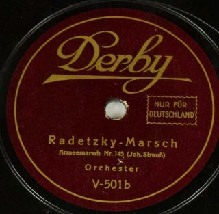 Schellack Orchester - Carmen - Marsch/radetzky - Marsch Grammophon March Gramophone Bild