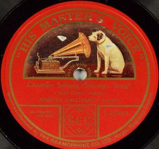 Einseitige Schellackplatte Amelita Galli - Curci - One - Sided Gramophone Records Bild