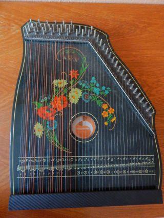 Akkordzither Ddr 1986 Musima Musikinstrument,  Zwei Notenhefte U.  Zubeh Bild