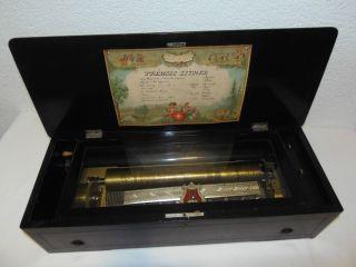 Rar - Grosse Antike Walzenspieluhr - Picard Genève,  Schweiz,  Ca.  1880 Bild