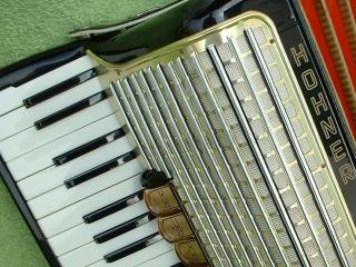 Hohner Concerto Iii Piano Akkordeon Germany Accordion 72 Bass Prima Akordeon Top Bild