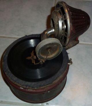 Grammophon Nirona 1915 Spielzeug,  Schalldose Nier & Ehmer Beierfeld Kinder Uropa Bild
