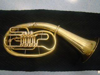 Tenorhorn Marke B&s Bassflügelhorn In B Markneukirchen 4 Ventile Gigbag Bild