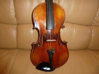 Schöne ältere Mittenwälder Violin - Geige Mit Zettel Bild
