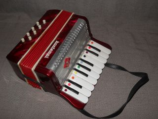 Bontempi Kinder Akkordeon Schiffer Klavier Harmonica Fl 1176 Italy 70er Bild