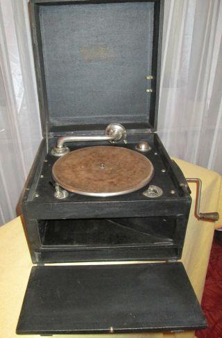 Koffergrammophon Metrophone Aus England Wg.  Hobbyaufgabe Bild