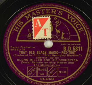 Schellack Glenn Miller - At Last/that Old Black… Grammophon Gramophone Shellac Bild