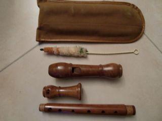 Fehr Alt - Blockflöte 3 - Teilig 2 X Doppelloch Barocke Griffweise Rosenholz Top Bild
