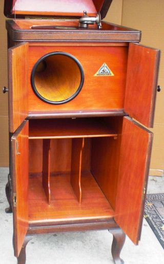 Antikes Grammophon Grammophonschrank Gramophon Musik Oberpottkamp Bild