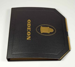 Odeon Album Schwarz Koffergrammophon Grammophon Gramophone Shelac Bild