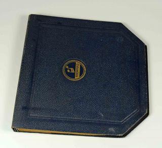 Columbia Album Blau Koffergrammophon Grammophon Gramophone Shelac Bild