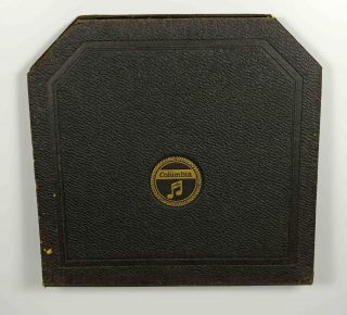 Columbia Album Schwarz Koffergrammophon Grammophon Gramophone Shelac Bild