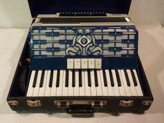 Weltmeister Akkordeon Cordal 80 BÄsse Blau - Weiss FunktionstÜchtig Bild