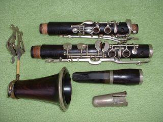 V.  Kohlerta & Synove Vintage Bb Clarinet Historische Klarinette Old Rare Uralt Bild