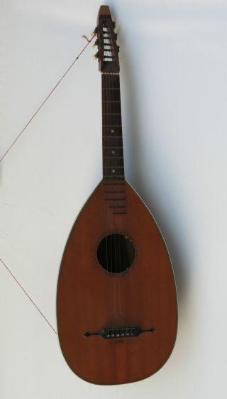 Alte G.  Herrnsdorf Markneukirchen Laute Gitarrenlaute Mandoline 6 Saiten 95,  5cm Bild