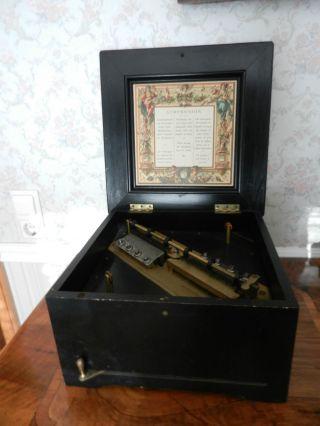 Spieluhr/spieldose Symphonion Brevete Patent Bild