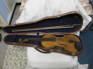 Schöne Alte Geige Violine Robert Lüer Gera Bild